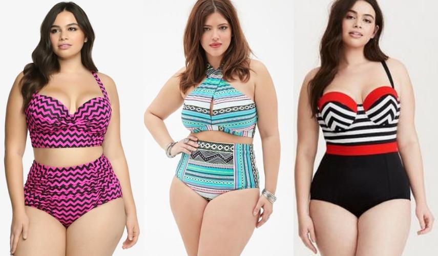moda Plus Size - praia