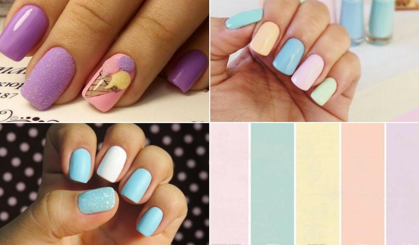 unhas para o verão - candy colors