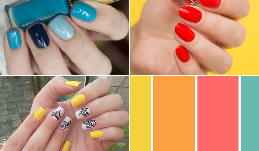 unhas para o verão - cores vibrantes