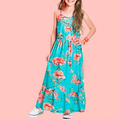 Vestido longo infantil | Bambolê