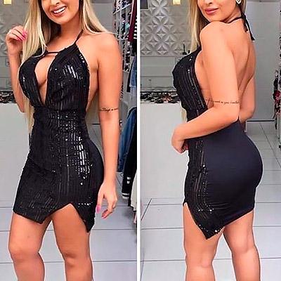 Vestido paete preto | Charme Feminino