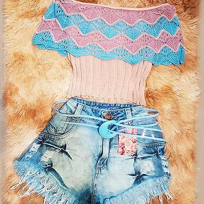 Shortinho jeans e ciganinha | Liz Bela Moda