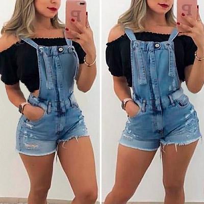 Jardineira jeans | Luiza Look
