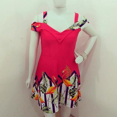 Vestido estampado   Roupa Bonita