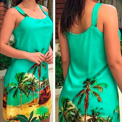 Vestido estampa exclusiva   Sodalita