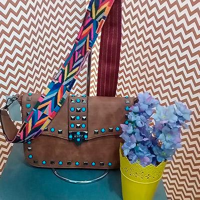 Bolsa alça colorida   Tamyris Bolsas e Acessórios