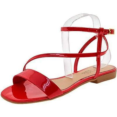 Sandália Rasteira Beira Rio Vermelha | Minha Paixão Calçados