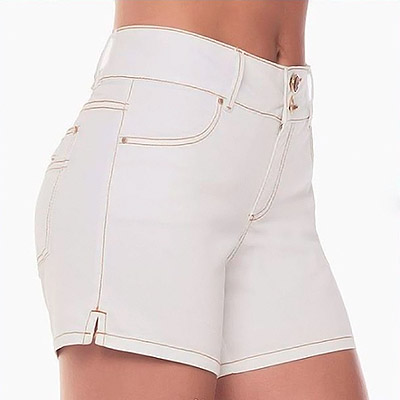 Short Jeans Feminino Branco | KSF Modas