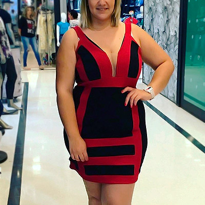Vestido Plus Size Decote V | Boutique Pimenta Espaço Plus Size