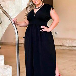 Vestido Plus Size Feminino Longo | Boutique Pimenta Espaço Plus Size