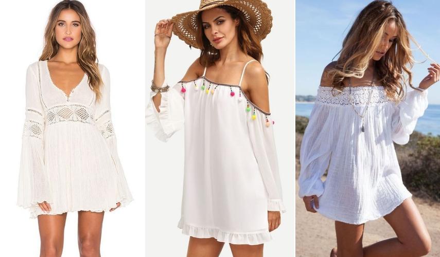 usar saida de praia - vestido
