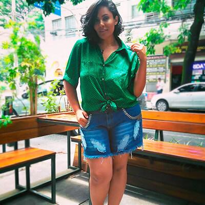 Blusa Feminina Plus Size Amarração Frontal | Roupa Bonita Plus Size