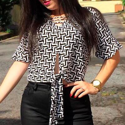 Blusa com Amarração Feminina | Amagis Modas