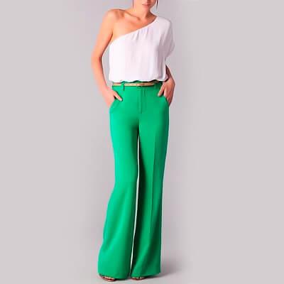 Calça Feminina Pantalona com Bolsos | Divinamentechic
