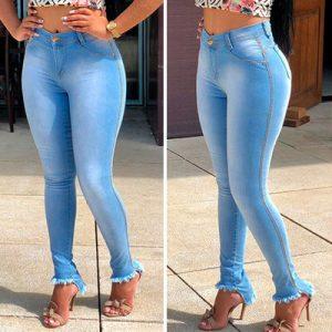 Calça Jeans Cós Alto com Destroyed | Soul Jeans Deluxe