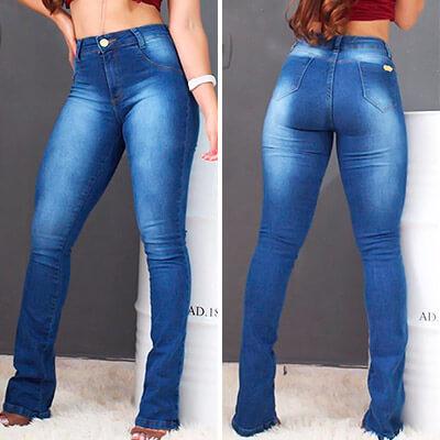 Calça Jeans Feminina Cós Alto | Amorim Modas