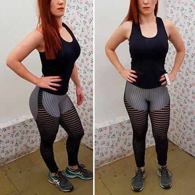 Calça Legging com Recorte Tule   Absoluta Moda Fitness