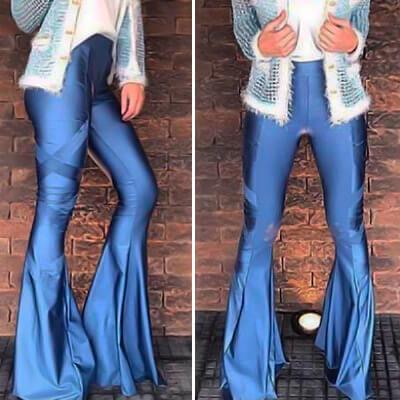 Calça Max Flare Azul | Suave Encanto