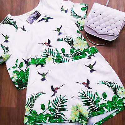 Conjunto Floral Blusa e Short | Atual Moda Fashion