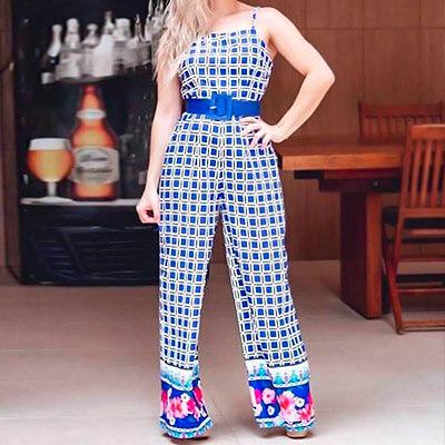 Macacão Feminino Longo Estampado | Veste Bem Modas