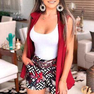 Short Feminino Neopreno Estampado | Bellance Store