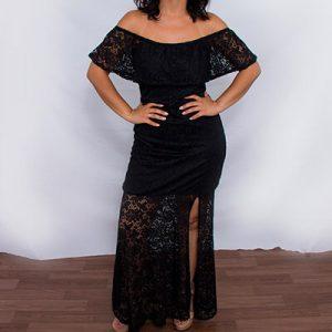 Vestido Ciganinha Longo de Renda | Rosa Katrina