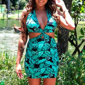 Vestido Feminino Versátil Costas Nua   Brend Store