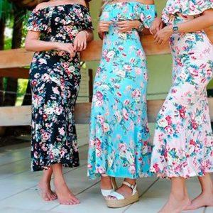 Vestido Longo Ciganinha Floral | Poema Modas