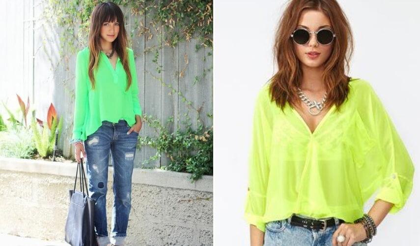 neon vibes - blusa