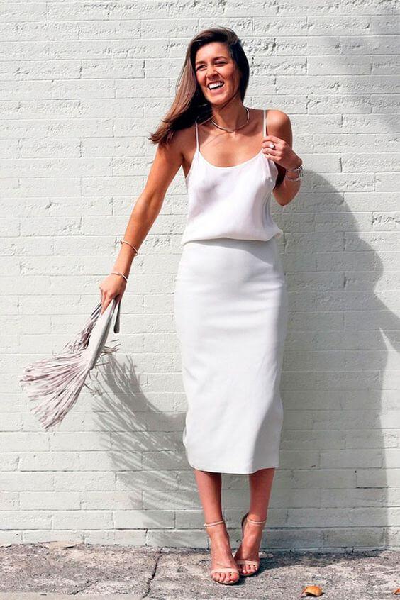 total white - blusa