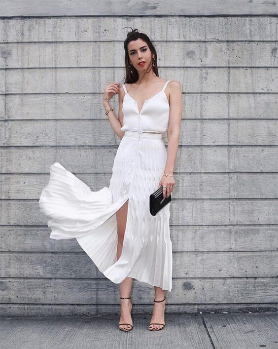 total white - vestido