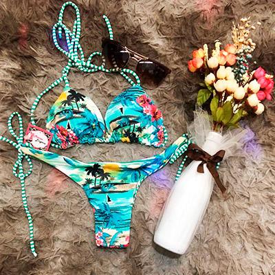 Biquíni com Estampa Floral | Marisa Lingerie