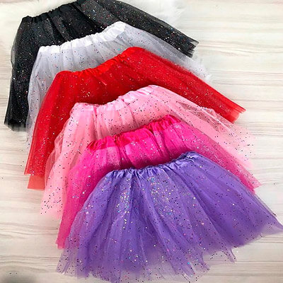 Saia de Tule com Glitter   Ladys Paradise Moda Feminina