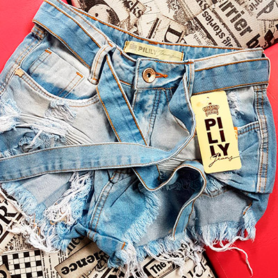 Short Jeans com Destroyed | For Ladies