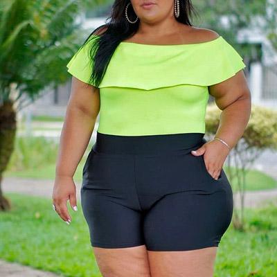Short Plus Size Cintura Alta | Lili Elegância Plus
