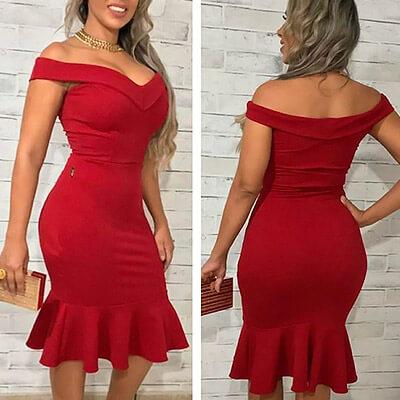 Vestido Midi Canelado | Mulher Empoderada Boutique