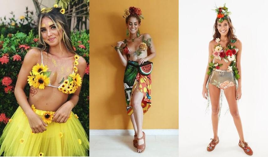 fantasias de carnaval - flores