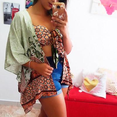 Conjunto Kimono Estampa Indiana | Romelier Store