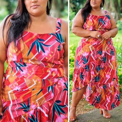 Conjunto Plus Size Estampado | Lili Elegância Plus