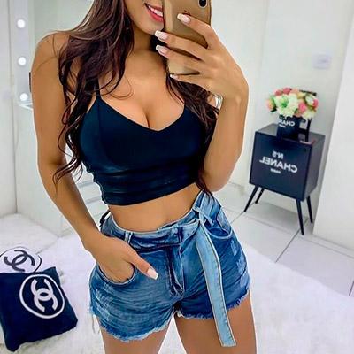 Short Jeans Feminino com Lycra | Espaço Feminino