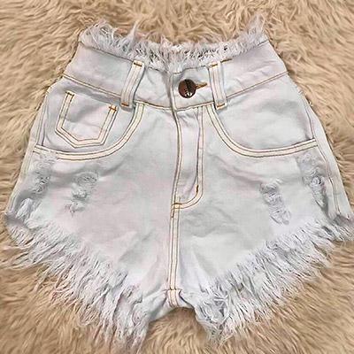 Short Jeans com Destroyed | Espaço Feminino