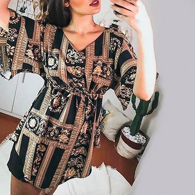 Vestido Feminino Estampa Indiana | Baiuka Modas
