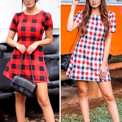Vestido Feminino Modelo Xadrez | Ateliê da Larisse
