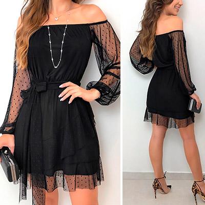 Vestido Ombro a Ombro Alyssa | Boutique Morena Chic