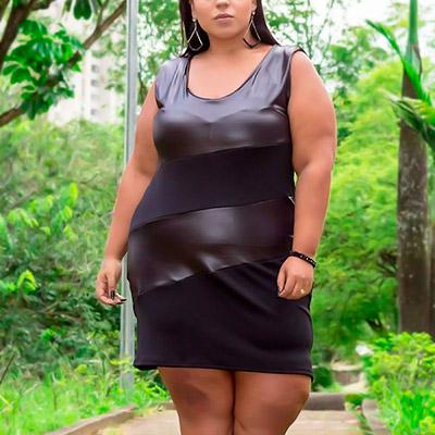 Vestido Plus Size Preto   Lili Elegância Plus