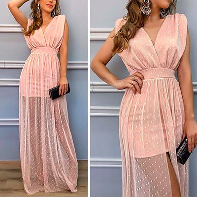 Vestido de Festa Fit Tule Rose | Boutique Morena Chic