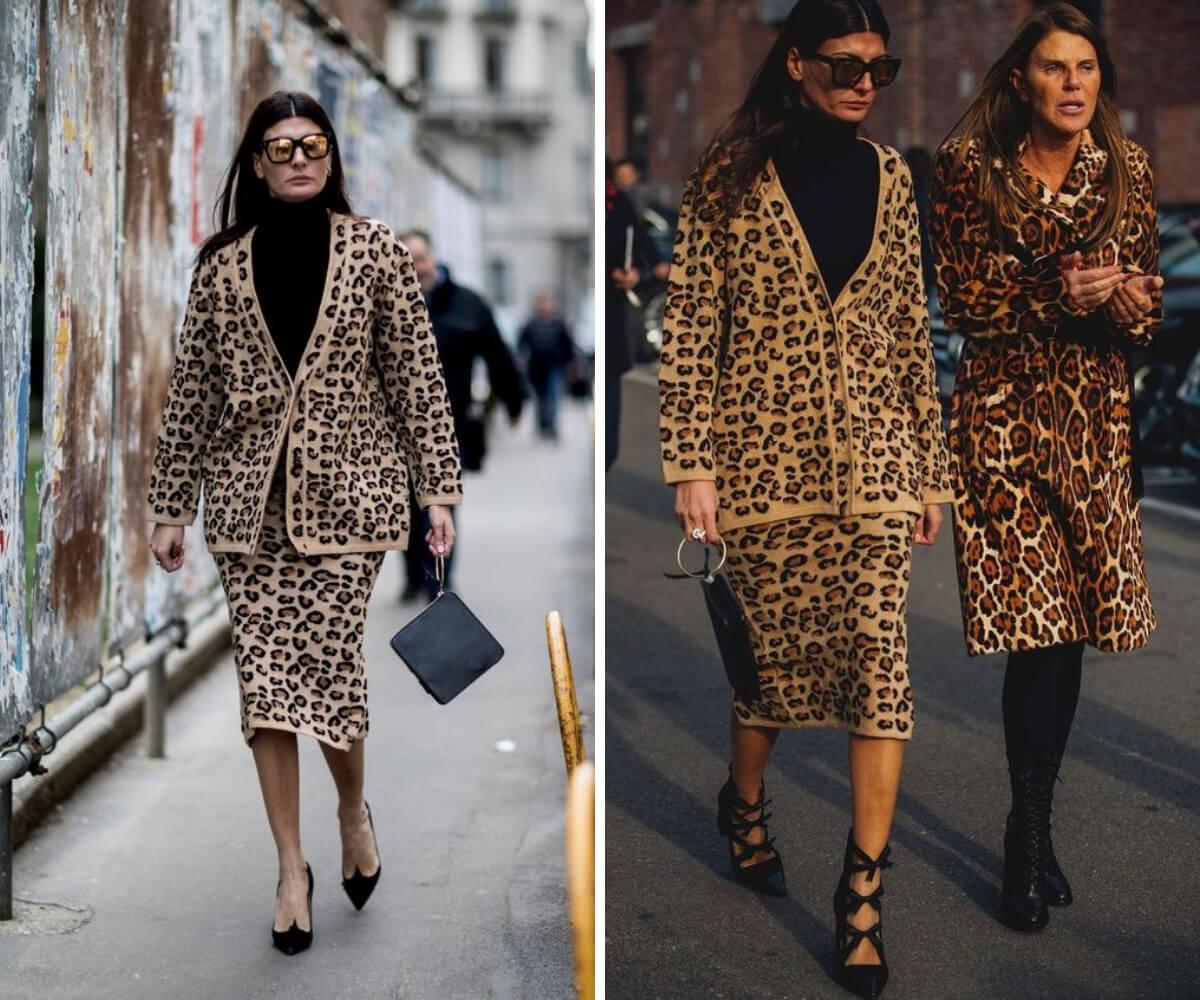 Resultado de imagem para imagem de famosos vestidos a roupa de estampas de animais