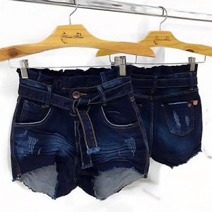Short Jeans Feminino com Destroyed | For Ladies