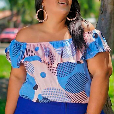 Blusa Ciganinha Plus Size | Lili Elegância Plus