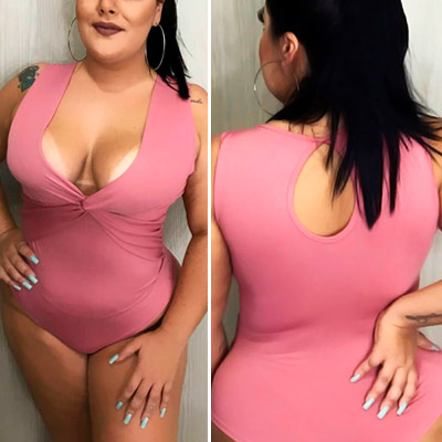 Body Plus Size Transpassado | Jeito Delicado